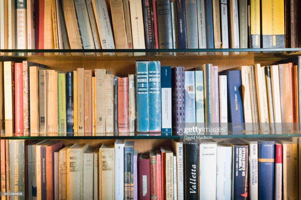 Book shelves : Stock Photo