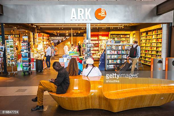 Book Store at Oslo Central Train Station, Norway