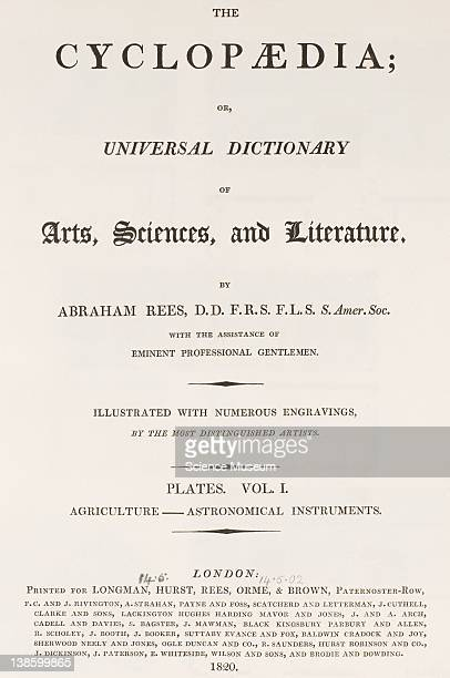 Book The Cyclopaedia Universal Dictionary of Arts Sciences and Literature Abraham Rees DD FRS FLS SAmer Soc Volume 1 Agriculture Astronomical...