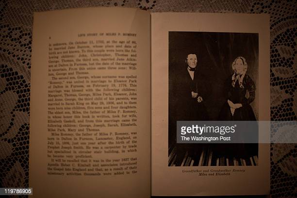 A book The Life Story of Miles P Romney shows a photographs of Miles and Elizabeth Romney ancestors of Mitt Romney at the Kent Family home in Colonia...