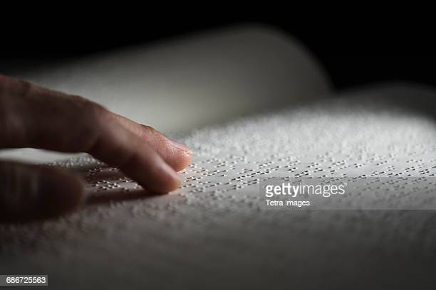 book with braille text - braille stock pictures, royalty-free photos & images