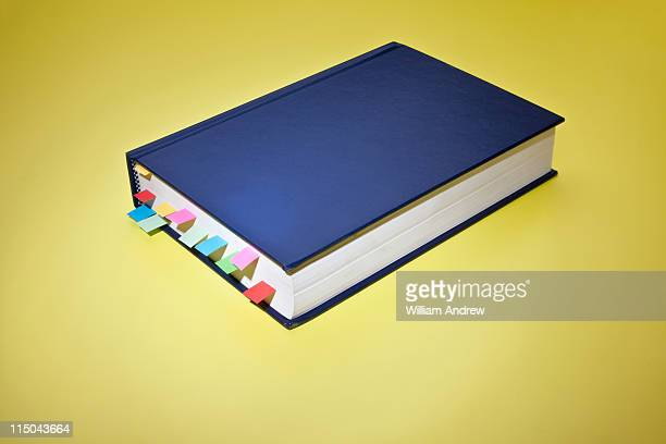 Book with coloful page tabs