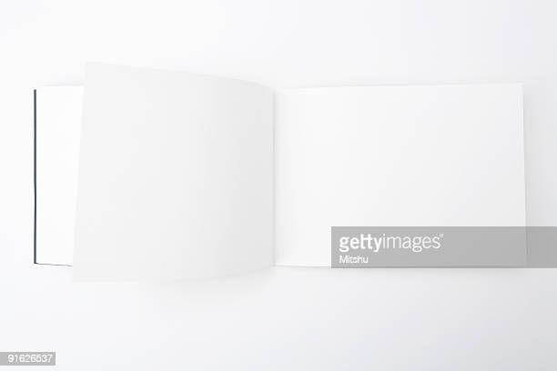 book with empty pages - magazine page stock photos and pictures