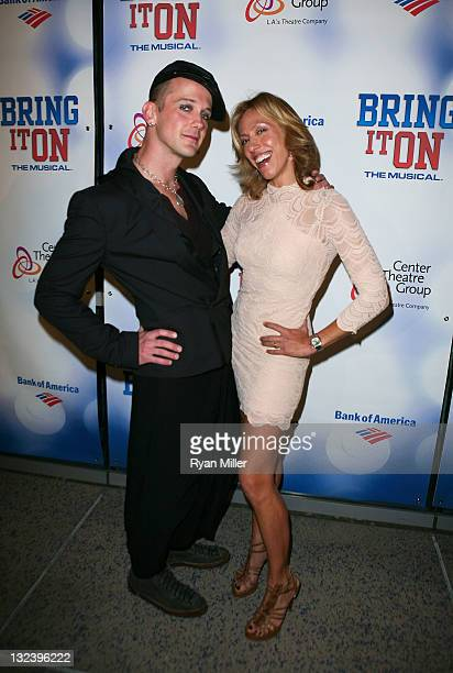 Book Writer Jeff Whitty and Lyricist Amanda Green pose during the arrivals for the opening night performance of Bring It On The Musical at Center...