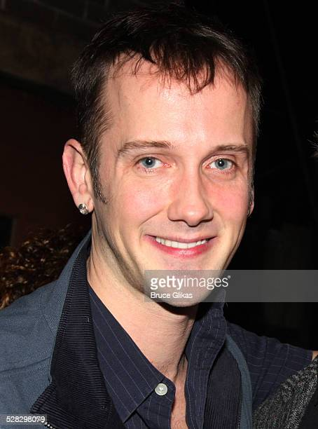 Book Writer Jeff Whitty at the Avenue Q on Broadway's replacement of the For Now George Bush lyric contest at the Golden Theatre on January 16 2009...