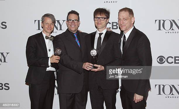 Book writer John Cameron Mitchell director Michael Mayer composer Stephen Trask and producer David Binder winners of best revival of a musical...
