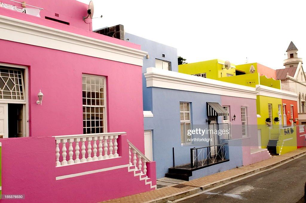 Boo-Kaap Viertel in Kapstadt : Stock-Foto