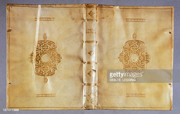 Bookbinding Il Milione by Marco Polo leather France 16th century Vienna Österreichische Nationalbibliothek