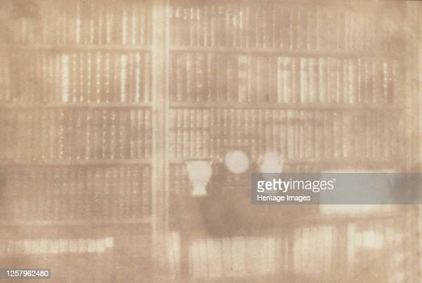 Bookcase at Lacock Abbey 1839 Artist William Henry Fox Talbot