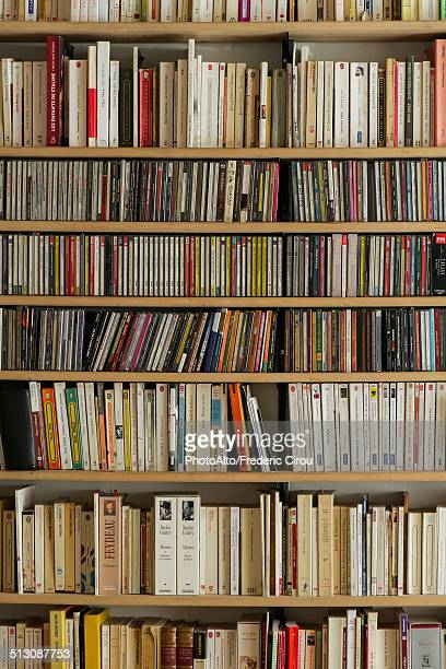 bookcase, full frame - book store stock photos and pictures