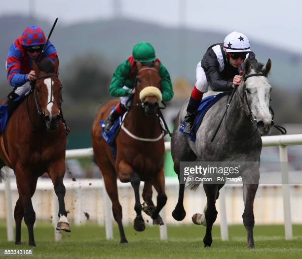 Booker ridden by Fran Berry wins The Irish Stallion Farms European Breeders Fund Fillies Maiden during Big Bad Bob Gladness Stakes/War Horse Race Day...