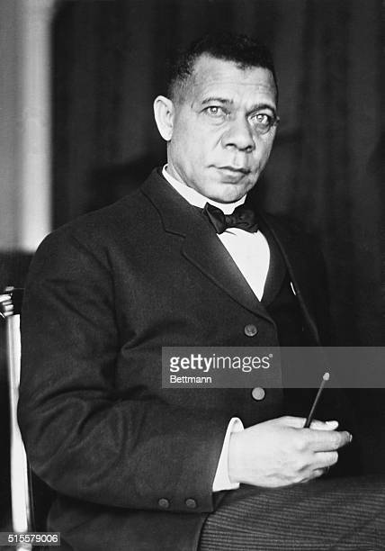 Booker T Washington American educator and founder of Tuskegee institute Photograph 1908