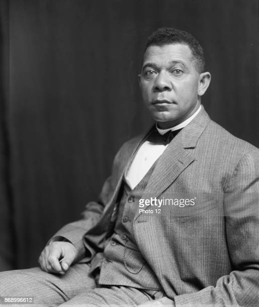 Booker T. Washington, half-length portrait, seated. An author, educator and Presidential advisor he was of the last generation of black American...