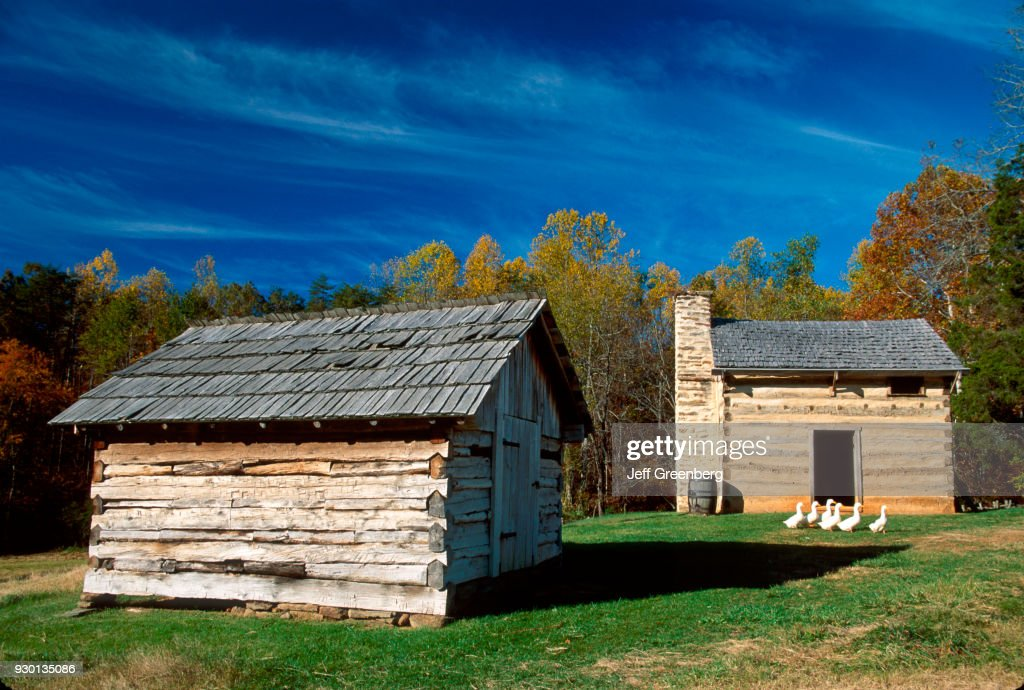 Booker T. Washington National Monument, smokehouse dining cabin, Moneta, Virginia. : News Photo