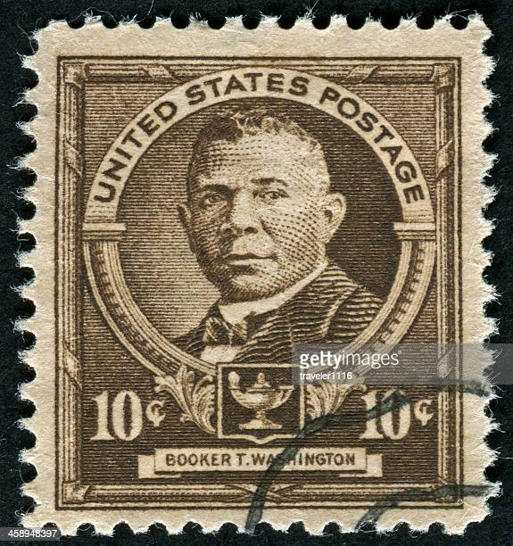 booker t. washington stamp - booker t. washington stock pictures, royalty-free photos & images