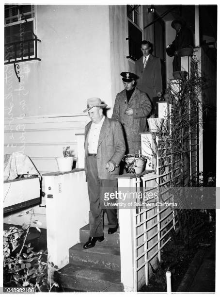 Bookie arrests 06 January 1952 Patrick E Irving 49 years Morris Jamoke 49 years Pete E Curti 44 years Lewis H Jacobsen Frederick L Good Everett...
