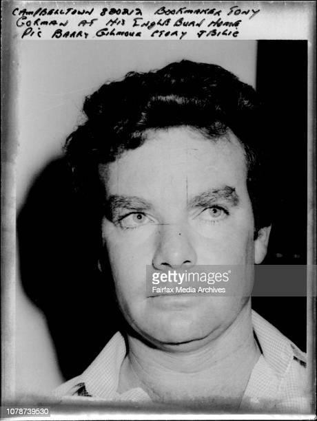 Bookmaker Tony Gorman at his Ingleburn Home February 12 1982