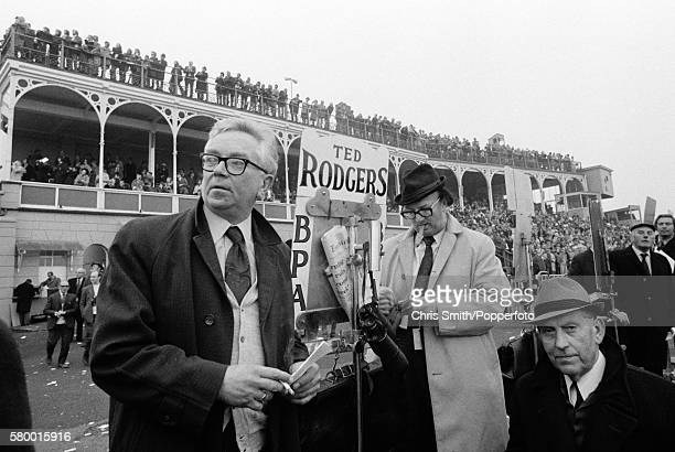 Bookmakers on the racecourse at Ludlow circa 1973
