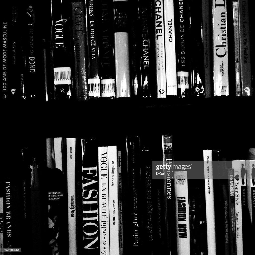 Livros de moda : Foto de stock