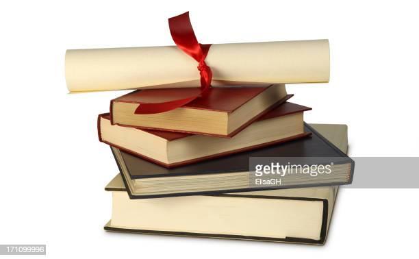 Bücher und dipoma
