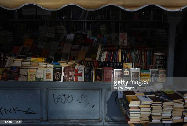 Books are seen being displayed at the Cuesta de Moyano street in Madrid during the World Book Day World Book Day is celebrated all over the world The...