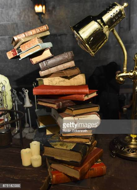 Books at Christmas in the Wizarding World of Harry Potter at Universal Studios Hollywood on November 16 2017 in Universal City California