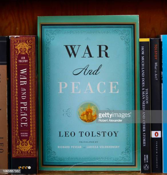 Books by Leo Tolstoy, incuding 'War and Peace', are among titles featured at City Lights Bookstore in San Francisco, California. The landmark...