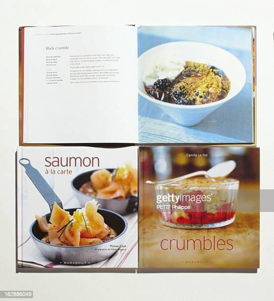Books For Christmas Couverture du livre Saumon à la carte de Maxime CLARK et couverture de Crumbles de Catherine LE FOLL aux éditions Marabout
