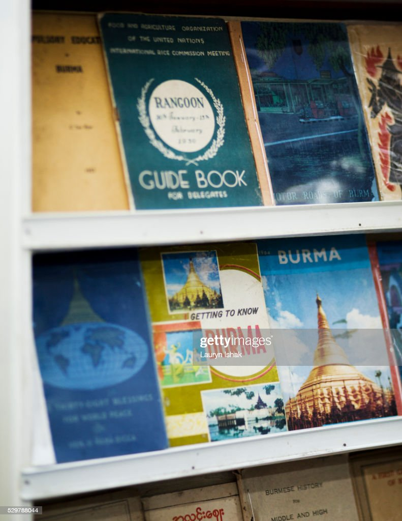 Books For Sale At Bagan Book Shop Yangon Myanmar Stock Photo - Getty