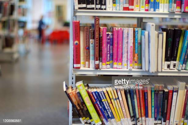 books in a bookshelf - knowledge is power stock pictures, royalty-free photos & images