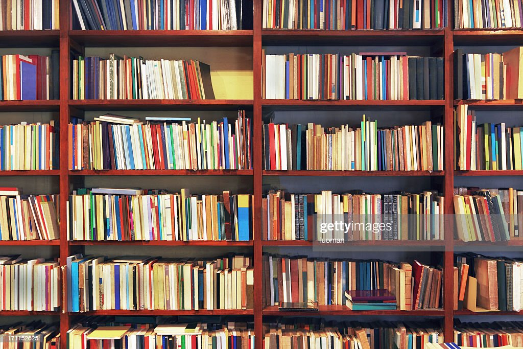 Books in a secondhand bookstore : Stock Photo