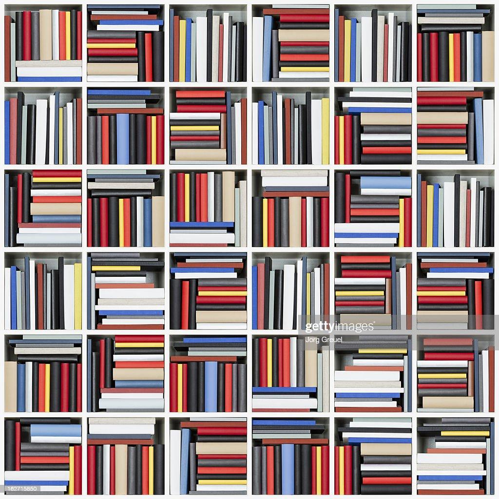 Books in a shelf : Stock Photo