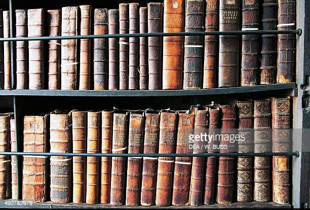 Books in Marsh's Library oldest public library in Ireland founded in 1701 Dublin Ireland