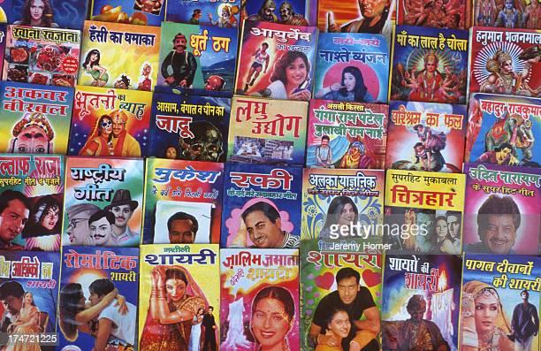 Books on display at a Hindi bookstall Jaipur Rajasthan