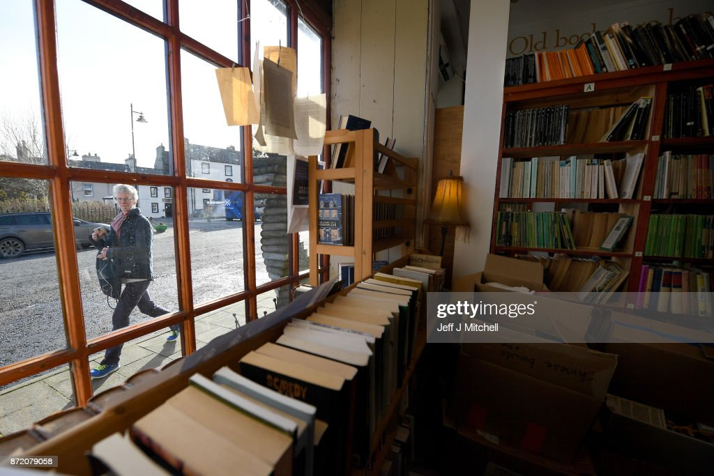 Books on display inside The Book Shop, the largest second hand store in the country on November 9, 2017 in Wigtown,Scotland. Wigtown has had official 'book town' status since 1998, with Mr Bythell owning Scotland's largest second hand book shop since 2001with a stock of over one hundred thousand books covering almost every imaginable subject.