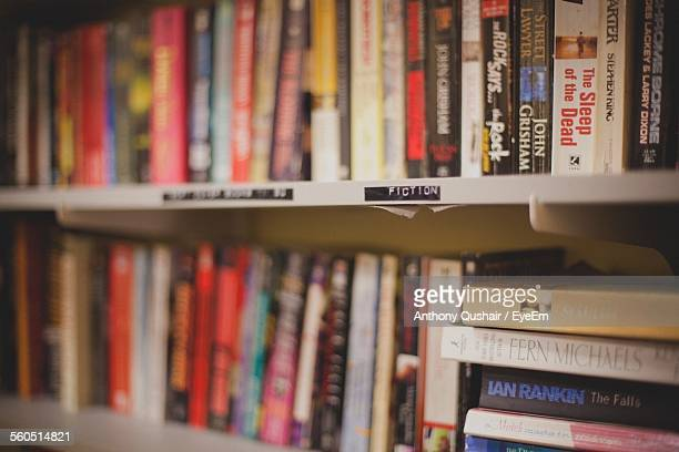 Books On Shelves At Bookstore
