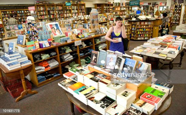 Books on the shelf at Politics and Prose bookstore which is changing hands in Washington, DC on June 8, 2010. Owners Barbara Meade and Carla Cohen...