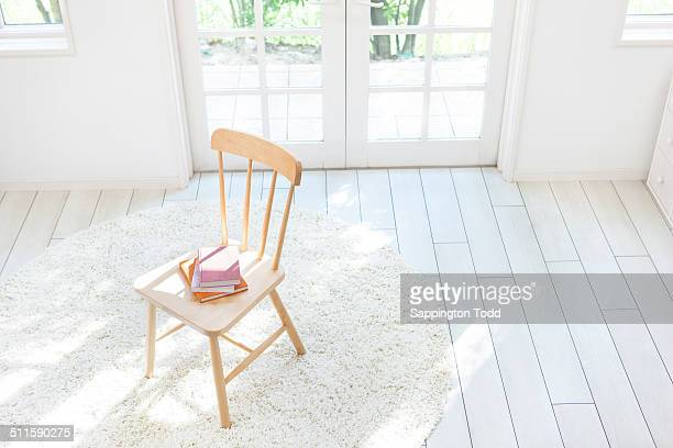 Books On Wooden Chair