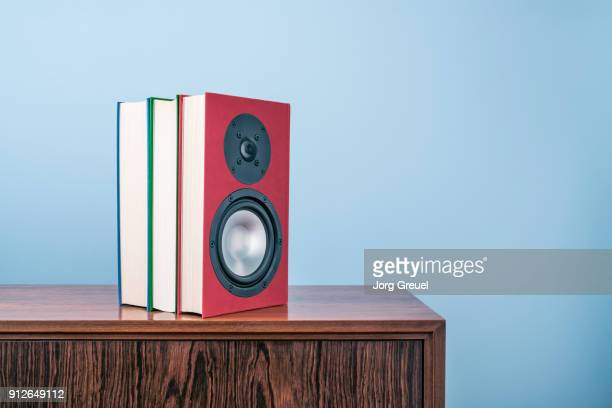 Books with built-in loudspeakers