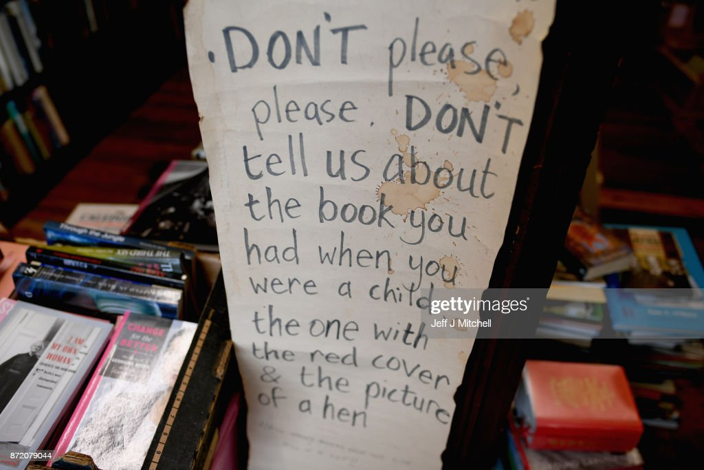 A booksellers code hangs inside The Book Shop, the largest second hand store in the country on November 9, 2017 in Wigtown,Scotland. Wigtown has had official 'book town' status since 1998, with Mr Bythell owning Scotland's largest second hand book shop since 2001with a stock of over one hundred thousand books covering almost every imaginable subject.