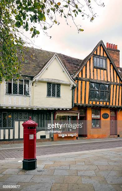 Bookseller's shop and postbox in Ipswich