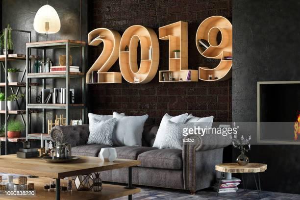 estante de 2019 com interior acolhedor - 2019 - fotografias e filmes do acervo
