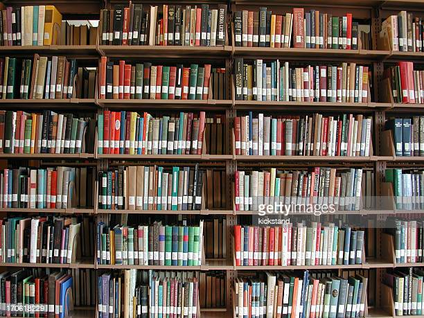 Bookshelves at the library