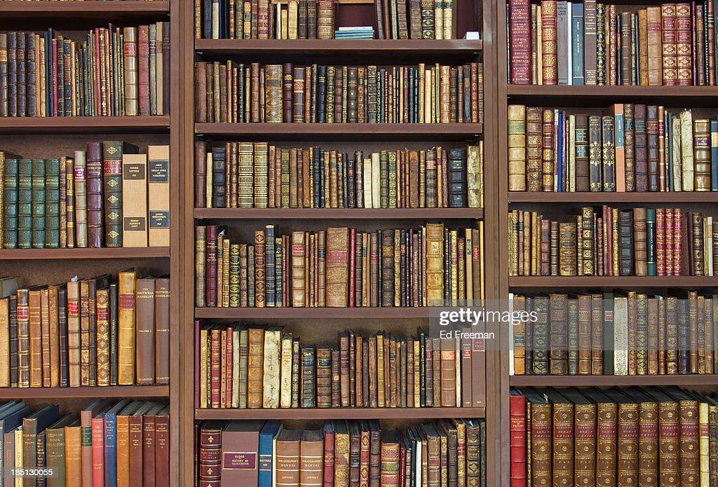 Bookshelves Full Of Rare Books Stock Photo Getty Images