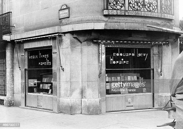 Bookshop in 1928 in Paris France