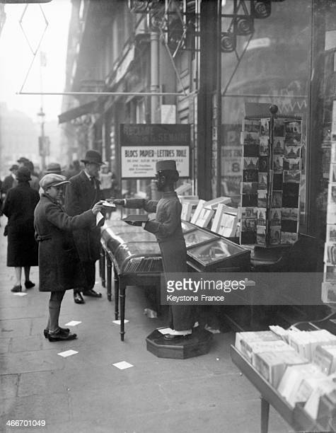 Bookshop in December 1929 in Paris France
