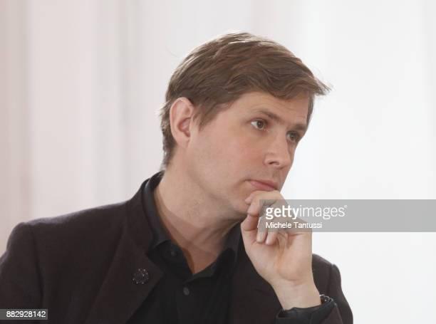 Bookwriter and author Daniel Kehlmann Speaks during a Bellevue Forum meeting on theme ' Die Freiheit des Denkens in unruhigen Zeiten' or Freedom of...