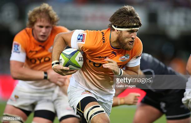 Boom Prinsloo of the Cheetahs during the Super Rugby match between Cell C Sharks and Toyota Cheetahs at Growthpoint Kings Park on February 14 2015 in...