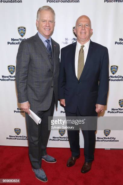 Boomer Esiason and James O'Neill attend the New York City Police Foundation 2018 Gala on May 17 2018 in New York City