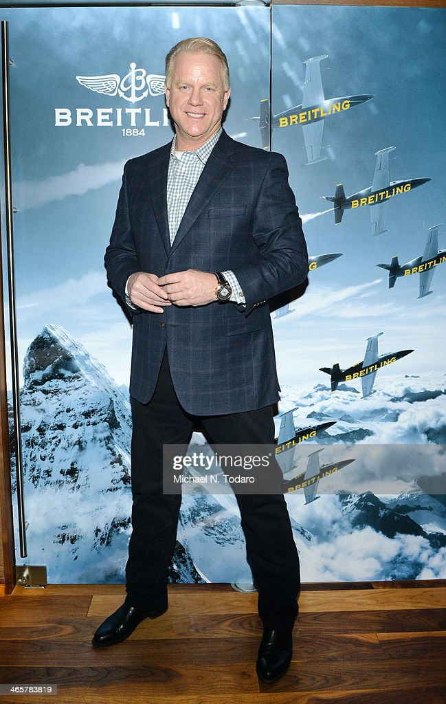 Boomer Esiason Previews Super Bowl XLVIII With Guests At Breitling Boutique New York